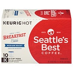 Seattle's Best Coffee K-Cups, Spirited Start Breakfast Blend, 10