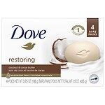 Dove Purely Pampering Beauty Bar, Coconut Milk, Jasmine Petals, 4 pk- 4 oz