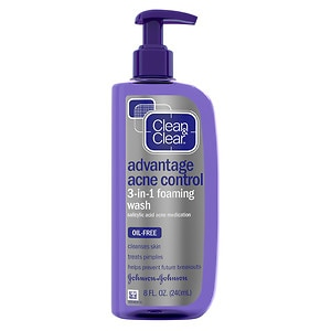 Clean & Clear Advantage Acne Control 3-in-1 Foaming Wash- 8 fl oz