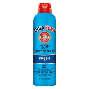 Gold Bond No Mess Foot Powder Spray, Fresh Scent- 7 oz