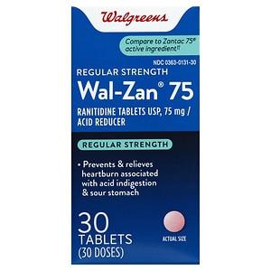 Walgreens Wal-Zan 75 Acid Reducer Tablets