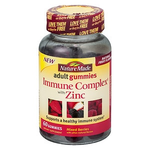 Nature Made Immune Complex with Zinc Adult Gummies, Berry- 60 ea