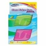 DenTek Floss Picks + Case for On-the-Go, Mint- 24 ea