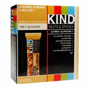 KIND Nuts & Spices Bars, Caramel Almond & Sea Salt, 12 pk- 1.4 oz