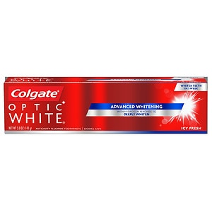 Colgate Optic White Anticavity Fluoride Toothpaste, Icy Fresh