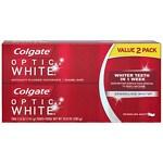 Colgate Optic White Anticavity Fluoride Toothpaste, 2 pk,