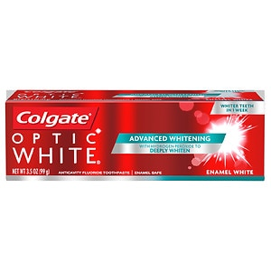 Colgate Optic White Anticavity Fluoride Toothpaste, Cool Fresh Mint, 3.5 oz