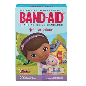 Band-Aid Adhesive Bandages, Disney's Doc McStuffin, Assorted Sizes, 20 ea