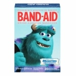 Band-Aid Adhesive Bandages, Monsters University, Assorted Sizes- 20 ea