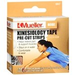 Mueller Kinesiology Tape Pre-Cut Strips, Beige
