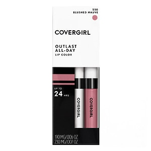 CoverGirl Outlast All Day Lipcolor, Blushed Mauve 550- 1 ea