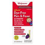 Walgreens Infants' Pain & Fever Reducer, Dye Free, Grape- 2 oz