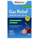 Walgreens Extra Strength Gas Relief Chewable, Cherry- 48 ea