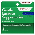 Walgreens Gentle Laxative Suppositories- 8 ea
