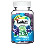 Centrum Kids Flavor Burst Multivitamin Chews, Grape & Blue Raspberry- 120 ea