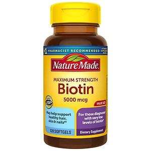 Nature Made Maximum Strength Biotin 5000Mcg, Tablets- 120 ea