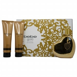 Bebe Gold Gift Set for Women, 4 Piece