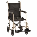 Nova Transport Chair Swing Away Footrests, 19 Inch, Champagne- 1 ea