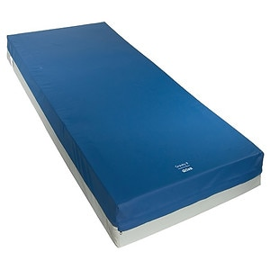 Drive Medical Gravity 8 Long Term Care Pressure Redistribution Mattress w Elevated Perimeter, Blue, 80x36x6