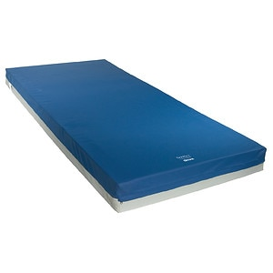 Drive Medical Gravity 9 Long Term Care Pressure Redistribution Mattress w Elevated Perimeter, Blue, 80x36x6