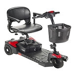 Drive Medical Spitfire Scout 3 Wheel Travel Power Scooter, Black,