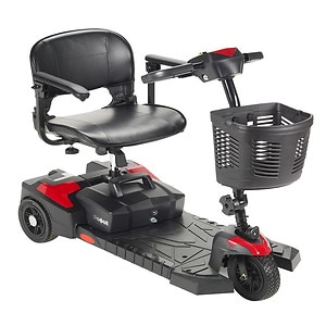 Drive Medical Spitfire Scout 3 Wheel Travel Power Scooter, Black, 16.5 Inch Seat