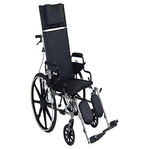 Drive Medical Viper Plus GT Reclining Wheelchair with Desk Arms, Black, 16 Inch Seat