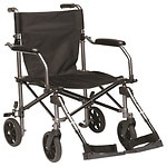 Drive Medical Travelite Transport Wheelchair Chair in a Bag, Black- 1 ea