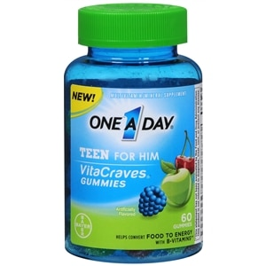 One A Day VitaCraves Teen for Him Multivitamin Gummies, Assorted- 60 ea