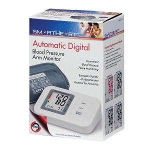 Veridian Healthcare SmartHeart Automatic Arm Digital Blood Pressure Monitor, White- 1 ea