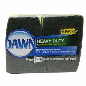 Dawn Heavy Duty Scrubber Sponges, Green/Yellow- 6 ea
