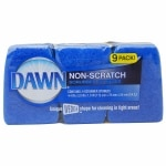 Dawn Non-Scratch Scrubber Sponges, Blue- 9 ea