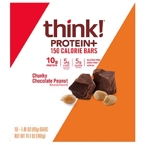 thinkThin Lean Protein & Fiber Bars, Chunky Chocolate Peanut, 10 pk