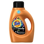 Tide HE Turbo Clean ColorGuard Liquid Laundry Detergent, 24 Loads- 46 oz