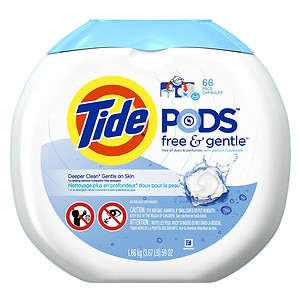 Tide PODS Free & Gentle HE Laundry Detergent Pacs, Unscented