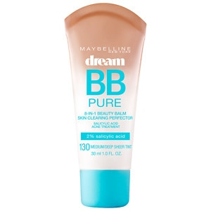 Maybelline Dream Pure BB 8-in-1 Beauty Balm Skin Clearing Perfector, Medium/Deep Tint