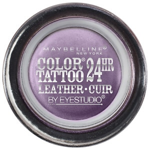 Maybelline Color Tattoo 24Hr Leather by EyeStudio Cream Gel Eyeshadow, Vintage Plum, .14 oz