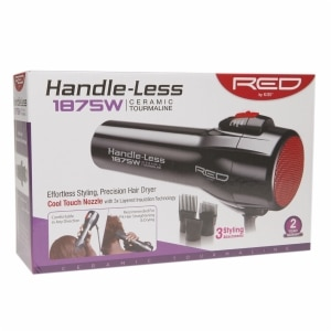 Red by Kiss Handle-Less Ceramic Tourmaline 1875W Hair Dryer