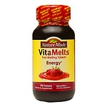 Nature Made VitaMelts Energy Vitamin B-12 1500mcg, Tablets, Mixed Berry- 100 ea