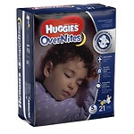 Huggies Overnites Diapers, Jumbo Pack, Size 5- 21 ea