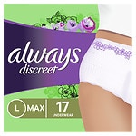 Always Discreet Incontinence Underwear, Maximum Absorbency, Large- 17 ea