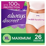 Always Discreet Incontinence Underwear, Maximum Extra-Large