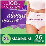 Always Discreet Incontinence Underwear, Maximum Extra-Large