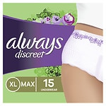 Always Discreet Incontinence Underwear, XL Maximum- 15 ea