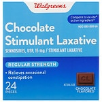 Walgreens Regular Strength Laxative Tablets, Chocolate- 24 ea