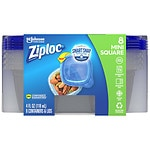 Ziploc Containers, Extra Small Square- 8 ea