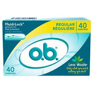 o.b. Tampons, Regular, 40 ea