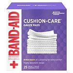 Band-Aid First Aid Gauze Pads, Small (2 Inch x 2 Inch)- 25 ea