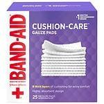 Band-Aid First Aid Gauze Pads, Medium (3 Inch x 3 Inch)- 25 ea