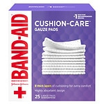 Band-Aid First Aid Gauze Pads, Large (4 Inch x 4 Inch)- 25 ea